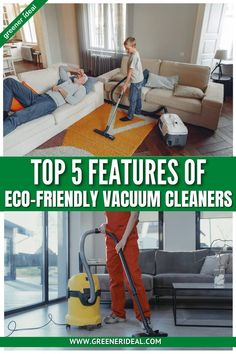 """Many people are surprised to learn that vacuum cleaner have a significant impact on the environment. For example, millions of vacuum bags, filters, lithium-ion batteries, and old vacuums end up in landfills each year. Inefficient vacuum motors also cause the emission of large amounts of carbon. While there's no such thing as a """"zero-carbon"""" vacuum cleaner, there are many features you can look for to reduce the environmental impact of your next vac. Here are five of the most important features. Chemical Free Cleaning, Eco Friendly House, Diy Cleaners, Sustainable Living, Natural Living, Sustainability, Environment, Vacuum Bags, Vacuums"""