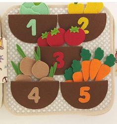 Felt garden counting page would be a hit with the girls.Birds in a tree quiet book page Kids Crafts, Preschool Crafts, Felt Crafts, Diy And Crafts, Diy Quiet Books, Baby Quiet Book, Felt Quiet Books, Toddler Learning Activities, Montessori Activities