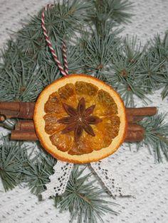 orange christmas ornament Home Decor  by domekdecor on Etsy, $3.00