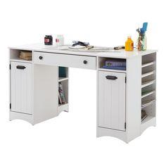 Artwork Craft Writing Desk With Storage