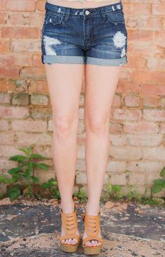 Dark Wash Boyfriend Denim Shorts - Shop Lizard Thicket