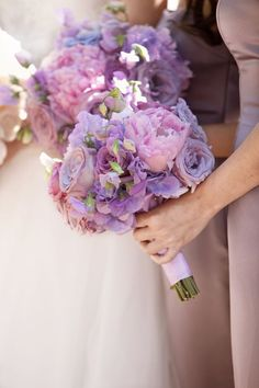 What about a bouquet to your bridesmaid?  So cool. Great for purple weddings