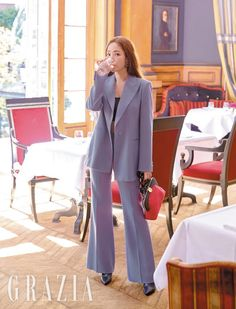 Park Min-young (박민영) - Picture @ HanCinema :: The Korean Movie and Drama Database Office Fashion, Business Fashion, Work Fashion, Asian Fashion, Park Min Young, Classy Outfits, Trendy Outfits, Fashion Outfits, Office Looks