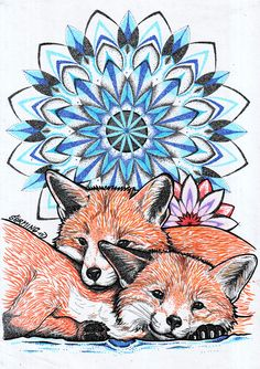 Fox lowers for St. Valentin art by tattoo Šarming