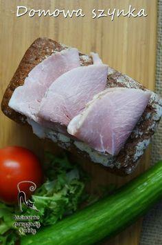 Domowa-szynka-z-szynkowara Polish Recipes, Polish Food, Smoking Meat, Ham, Sausage, Pork, Food And Drink, Appetizers, Beef