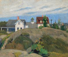 Rocks and Houses, Ogunquit, Edward Hopper, 1914