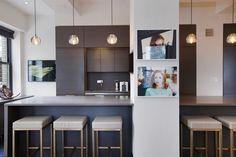 Contemporary Kitchen with Limestone counters, L-shaped, LBL Lighting Bronze 1 Light Track Pendant, Flush L Shape, Pine, Home Improvement, Contemporary, Kitchen, Table, Manhattan, Furniture, Design
