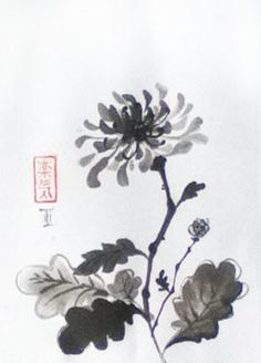 chrisanthemum japanese painting - Buscar con Google