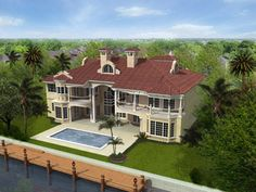 italian style house plans - 8441 square foot home , 3 story, 6