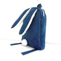 OriginalHomeBySasha / RUKSAK zajačik, modrý