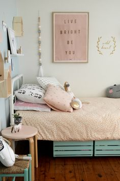 happy pink and gold girl's bedroom