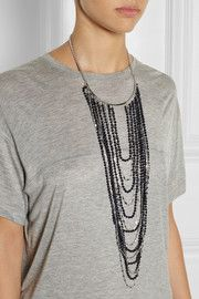 Eddie Borgo Berber rhodium-plated sandstone necklace