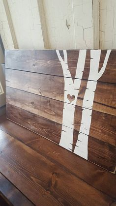 Items similar to Birch tree home decor wood sign. Home birch tree decor. Rustic wall on Etsy