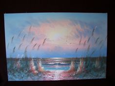 Vintage signed Oil Painting SEASCAPE by DUGGAN  very large ! by LIZ404 on Etsy