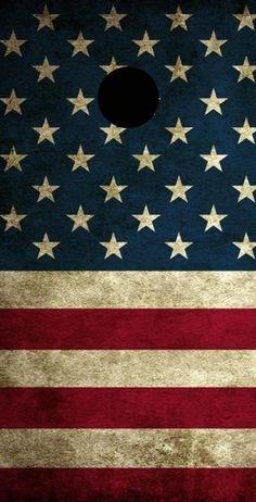 American Flag Theme 2x4 Cornhole Board Set with bags | Custom Corn Hole | Bag Toss | Corn Toss | Bean Bag Toss