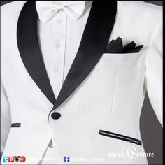 #WeddingsByBucco Having a wedding at night and want to keep it casual. Try a custom dinner jacket in white, Ivory, or navy blue and satin shawl lapel..   #Bucco #BuccoBoutique #customshirts #customsuits #Missouricustomsuits #themanofstyle #TMOS #Virtualcloset #Weddings #WeddingsByBucco #WeddingSuits