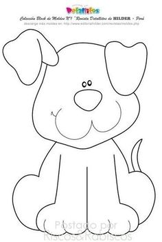 Ideas Baby Animals Crafts For Kids Coloring Pages For 2019 Free Applique Patterns, Baby Quilt Patterns, Felt Patterns, Applique Quilts, Applique Designs, Embroidery Applique, Embroidery Patterns, Baby Applique, Dog Quilts