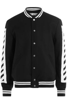 OFF-WHITE Varsity Jacket With Print. #off-white #cloth #jackets