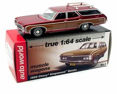 "Auto World Muscle Wagon Series 1969 Chevy ""Kingswood"" Estate 1/64 Scale"
