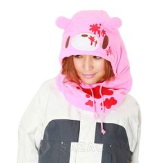 SAZAC Gloomy Bear Pink Kigurumi Neck Warmer
