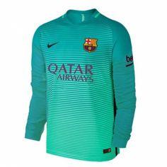 Camiseta Nueva del Barcelona Third 2017 Manga Larga Camiseta Del Barcelona ff4d6b175ed