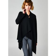 """""""Button Up"""" Asymmetrical Black Cardigan Made with soft brushed fabric. Single button cardigan with an asymmetric hem. It feels soft to the touch and drapes really well. 62% polyester, 33% rayon, 5% spandex. Brand new without tags. ABSOLUTELY NO TRADES. Also available in burgundy. Bare Anthology Jackets & Coats"""