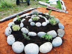 How to: herb garden in a rock spiral