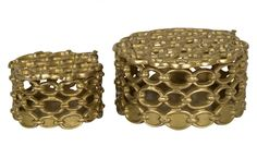 Brass Link Boxes - Tabletop - Accessories | Jayson Home