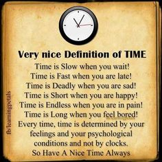 Definition Of TIME · Nice DefinitionSayings And QuotesQuote ...