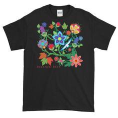 """Flowing Floral Blue Eagle"" short sleeve t-shirt"