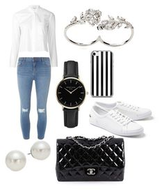 """""""Outfit for a brunch meeting"""" by mslittlemays on Polyvore featuring Dorothy Perkins, Lacoste, Helmut Lang, AK Anne Klein, Chanel, Apples & Figs and ROSEFIELD"""