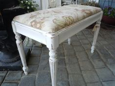 Piano Bench Seat  in Shabby Chic French Country Style with Storage on Etsy, $195.00