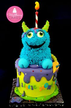 Little Monster Cake - Maybe use Elmo or a Sesame Street Character