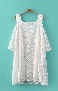 Sweet Off-shoulder FLowers Embroidered Lace Dress