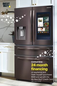 Home Decor Kitchen, Home, Kitchen Remodel, Kitchen Decor, Cool Kitchen Gadgets, Home Kitchens, Samsung Appliances, Buy Kitchen, Smart Kitchen