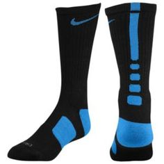 Nike Elite Basketball Crew Sock - Men's - Basketball - Accessories - Black/Royal
