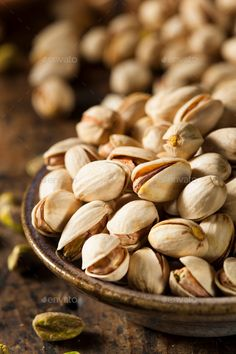 Buy Raw Organic Pistachio Nuts by on PhotoDune. Raw Organic Pistachio Nuts in a Bowl Fruits Images, Good Food, Yummy Food, Fruit Photography, Delicious Fruit, Healthy Cookies, Organic Recipes, Coco, Stuffed Mushrooms