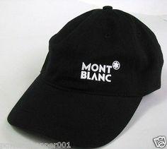 76399b58e7e100 NEW Super Rare Original Mont Blanc Logo Baseball Cap Hat Black One Size  Fits All