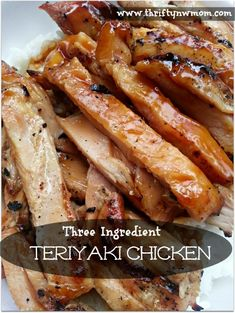 Teriyaki Chicken | 3 Ingredients Boneless Chicken Breasts Yoshidas Teriyaki Sauce Niko Niko Calrose Rice