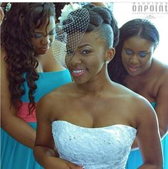 Sassy Natural Hair Bride's with Veils