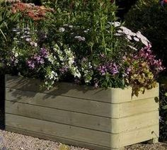Rowlinson Marberry Rectangular Wooden Planter £98.99 Height 39cm (1ft 3¼ins) x Width 1m (3ft 3¼ins) x Depth 50cm (1ft 7¾ins)