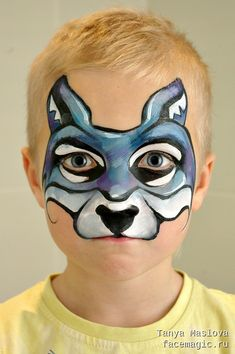 Little wolf. Face paint by Tanya Maslova.