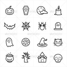 Buy Flat Line Icons For Halloween Icons by karawan on GraphicRiver. Flat Line Icons For Halloween Icons Vector Illustration Spooky Tattoos, 13 Tattoos, Knuckle Tattoos, Skull Tattoos, Mini Tattoos, Finger Tattoos, Makeup Tattoos, Halloween Doodle, Halloween Icons