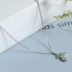 S925 Sterling Silver Germination Necklace