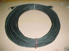 100' CAT-6 OUTDOOR PATCH CORD BLACK WEATHERPROOF CABLE