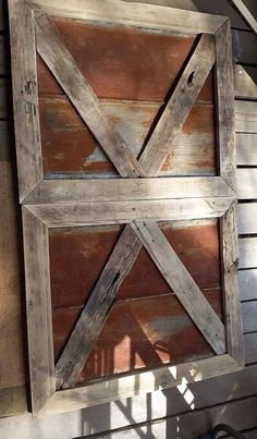Tin and weathered wood barn doors
