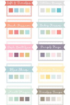 Timeless color combinations