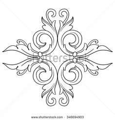 Find baroque stock images in HD and millions of other royalty-free stock photos, illustrations and vectors in the Shutterstock collection. Textile Pattern Design, Pattern Art, Hand Embroidery Designs, Embroidery Patterns, Tatuagem Diy, Broderie Simple, Sketch Tattoo Design, Wood Carving Art, Beaded Cross Stitch