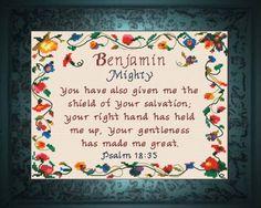Name Blessings - Benjamin