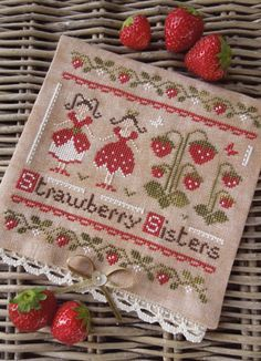Strawberry Patch, Burlap, Decorative Boxes, Patches, Reusable Tote Bags, Hessian Fabric, Canvas